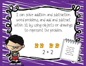 Kindergarten Common Core Standards Posters for Math