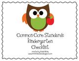 Kindergarten Common Core Standards Lesson Plan Checklist