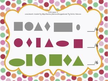 Kindergarten Common Core Standards Math Geometry Assessment