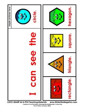 Kindergarten Common Core Standards: Math: Geometry (Shapes)
