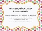 Kindergarten Common Core Standards Math Shape Assessment
