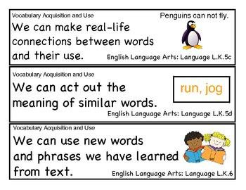 Kindergarten Common Core Standards Part 2