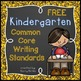 Kindergarten Common Core Standards Poster Bundle-Reading, Math and Writing