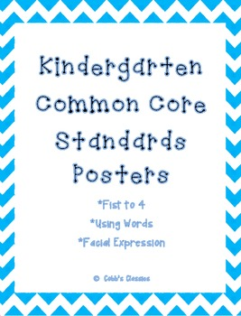 Kindergarten Common Core Standards-Poster sized