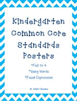 Kindergarten Common Core Standards-Poster sized