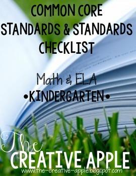 Kindergarten Common Core Standards & Standards Checklist: