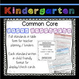 Kindergarten Common Core Standards Teacher and Student!