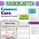 Kindergarten Common Core Standards Tracker