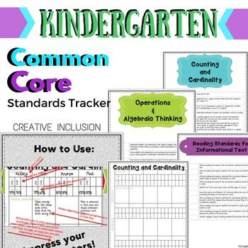Kindergarten Common Core Standards Tracker