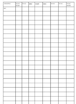 Kindergarten Common Core Standards grade/record book ** EDITABLE**
