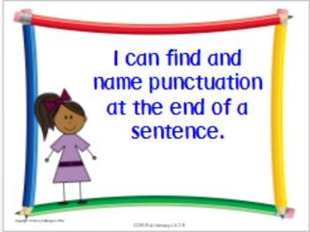 ELA Kindergarten Common Core Standards Posters in Kid-Friendly Language