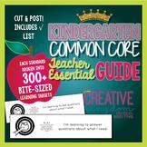 Kindergarten Common Core State Standard Guide -  ELA and Math Common Core Guide