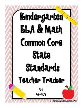 Kindergarten Common Core State Standards Teacher Tracker ELA & Math