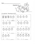 Kindergarten Common Core Subtraction within 5 use Pictures K.OA.2  3 Skillsheets