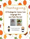 Kindergarten Common Core: Thanksgiving Mini Unit