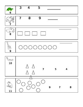 Kindergarten Common Core Unit 2 Math Test