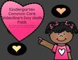 Kindergarten Common Core Valentine's Day Math Pack