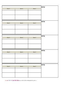 Kindergarten Common Core Weekly Planner