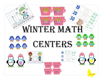 Kindergarten Common Core Winter Math Centers