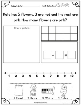 kindergarten word problems by simply creative teaching tpt. Black Bedroom Furniture Sets. Home Design Ideas
