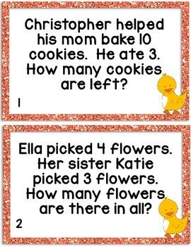 Kindergarten Common Core Word Problem Set