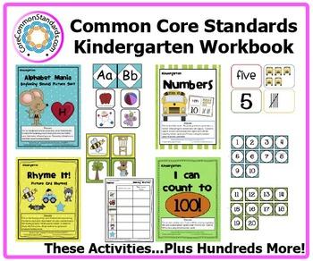 Kindergarten Common Core Workbook