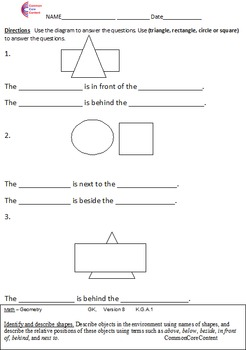 Worksheets Common Core Kindergarten Worksheets kindergarten common core math worksheets by nick knacks for the geometry all stan