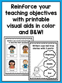 Kindergarten Personal Narrative Writing Lessons {Kinder Writing Workshop Unit 2}
