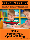 Opinion Writing Lessons for Kindergarten {Kinder Writing Workshop Unit 5}