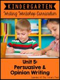 Opinion Writing Lessons for Kindergarten {Kinder Writing Workshop Unit 5}