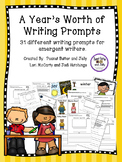 A Year of Daily Writing Prompts for young writers - common core aligned
