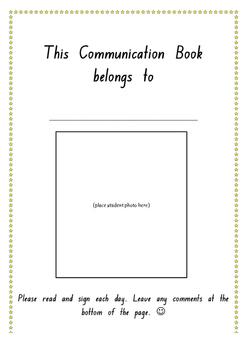 Kindergarten Communication Book (NSW Foundation Font)