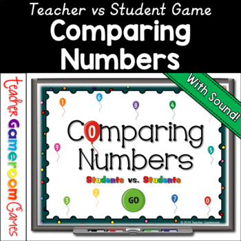 Kindergarten - Comparing Numbers Balloon Powerpoint Game