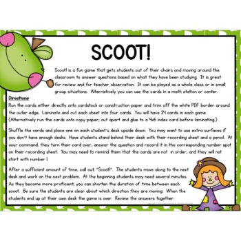 Kindergarten Comparing Numbers Task Cards / Scoot (K.CC.C.6)