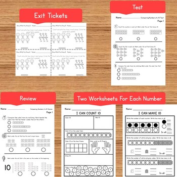 Kindergarten Comparing Numbers to 10