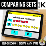 Kindergarten Comparing Sets to 10 Digital Math Games | Dis