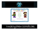 Kindergarten Completion Certificate