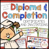 EDITABLE PRESCHOOL, PREK, KINDERGARTEN DIPLOMAS AND CERTIFICATES