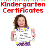 Kindergarten Certificates Completion Diploma Editable