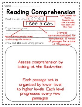 Kindergarten Comprehension- DIFFERENTIATED