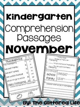 Kindergarten Comprehension Passages
