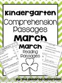 Kindergarten Comprehension Passages March