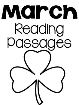 Kindergarten Comprehension Passages March