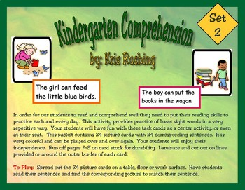 Kindergarten Comprehension Set 2