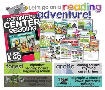 Kindergarten Computer Centers Bundle | Common Core Reading & Math Standards