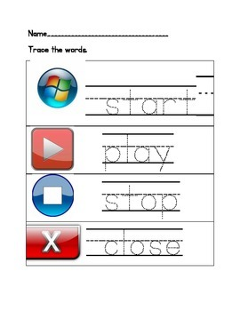 Kindergarten Computer Worksheets