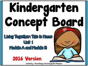 Kindergarten Concept Board Unit 1 ****2016 Version****