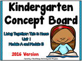 Kindergarten Concept Board Unit 1 ****2016 Version****