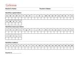Kindergarten Conference Checklist