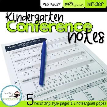 Kindergarten Conference Notes